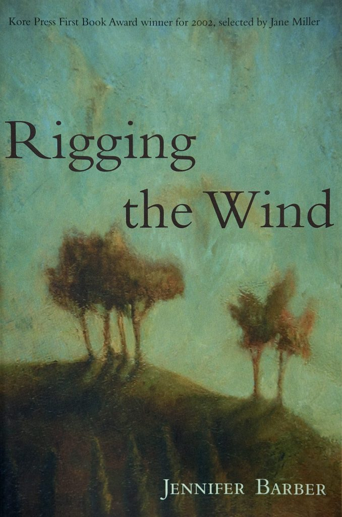 Cover of poetry collection Rigging the Wind by Jennifer Barber